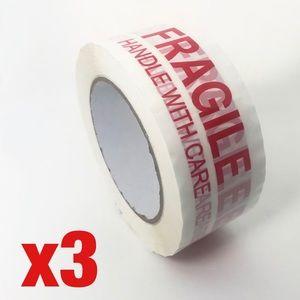 3 Rolls Fragile Shipping Tape 110 yards